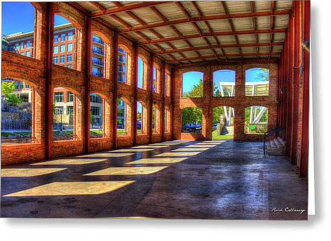 The Venue Old Mill Wedding Venue Reedy River South Caroline Art Greeting Card by Reid Callaway