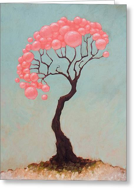 Large Trees Greeting Cards - The Vibes Greeting Card by Ethan Harris