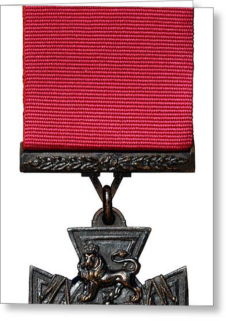 Bravery Greeting Cards - The Victoria Cross Greeting Card by Roy Pedersen