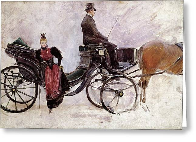 The Victoria Greeting Card by Jean Beraud