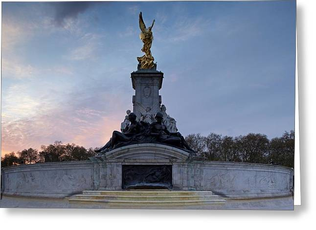 The Victoria Memorial Greeting Card by Stephen Taylor
