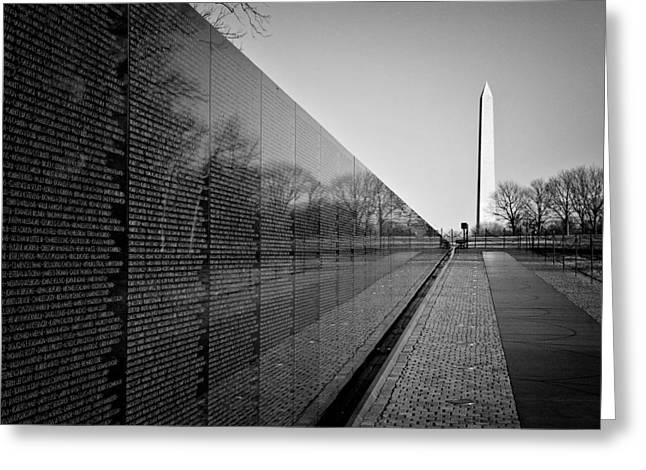 Black Top Greeting Cards - The Vietnam Veterans Memorial Washington DC Greeting Card by Ilker Goksen