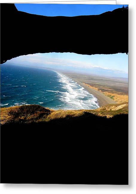 Abstract Digital Photographs Greeting Cards - The View Greeting Card by Elizabeth Hoskinson