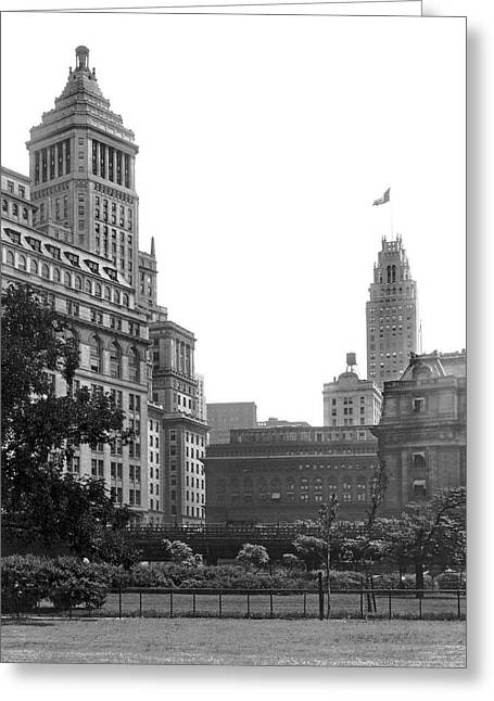 The View From Battery Park Greeting Card by Underwood Archives