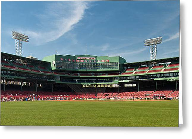 Fenway Park Greeting Cards - The View From Center Greeting Card by Paul Mangold