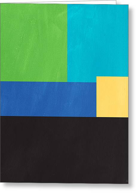 Bold Color Greeting Cards - The View From Here- Modern Abstract Greeting Card by Linda Woods