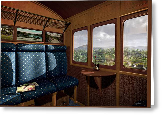 Train Car Greeting Cards - The View from Marion Station Greeting Card by Cynthia Decker