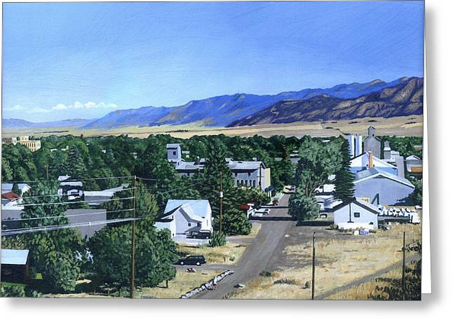Spanish Peaks Greeting Cards - The View from Peets Hill Greeting Card by Michael Ward