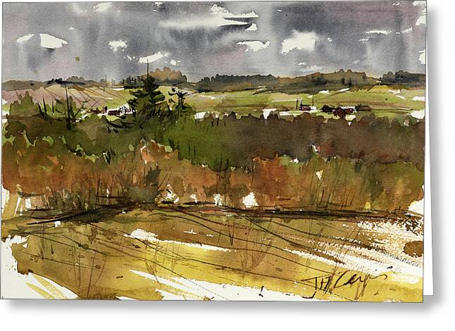 The View On Burlingame Road Greeting Card by Judith Levins