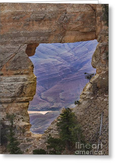The  View Through The Angels'  Window Greeting Card by Robert Bales