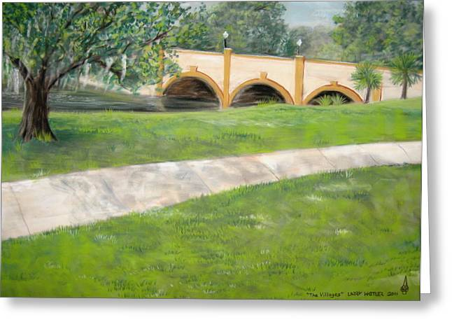 Florida Bridge Pastels Greeting Cards - The Villages Greeting Card by Larry Whitler