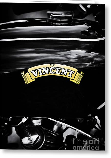 The Vincent Comet Greeting Card by Tim Gainey