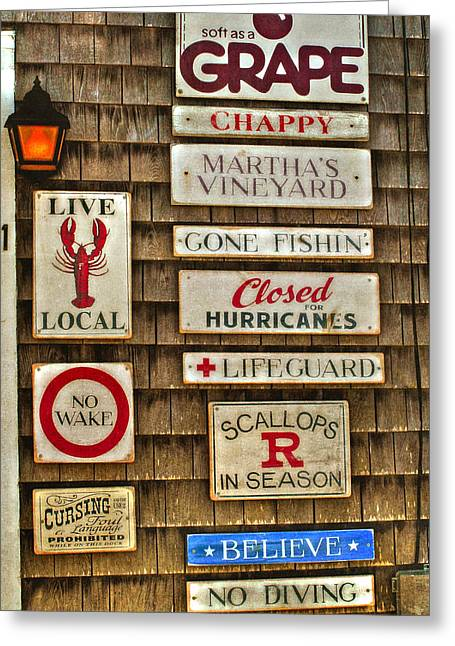 Clapboard House Greeting Cards - The Vineyard Greeting Card by Joann Vitali