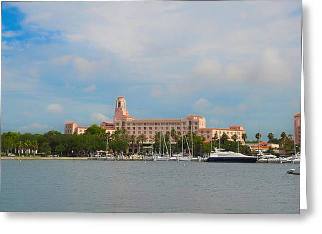 Yacht Basin Greeting Cards - The Vinoy Renaissance St. Petersburg Resort and Golf Club Greeting Card by Bill Cannon