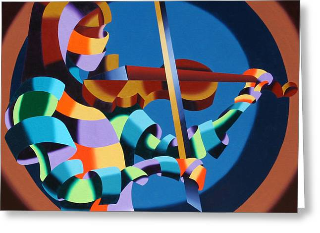 The Violinist Greeting Card by Mark Webster