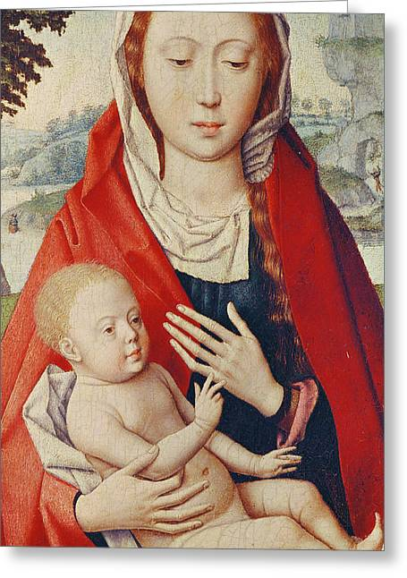 The Virgin And Child Greeting Card by Hans Memling