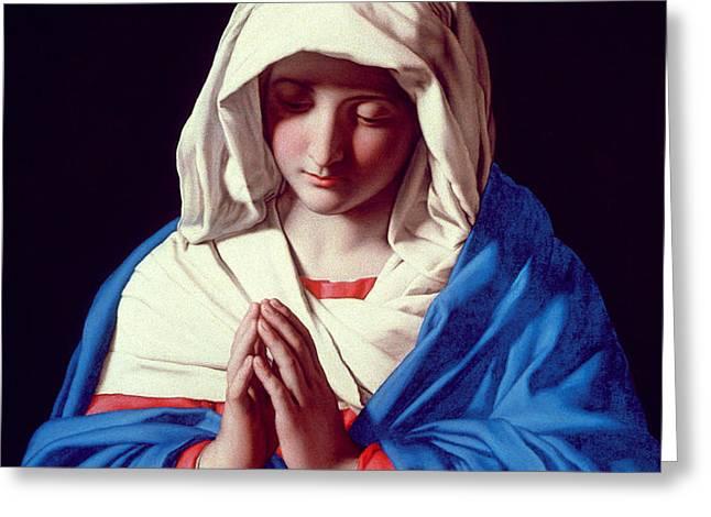 The Virgin in Prayer Greeting Card by Il Sassoferrato