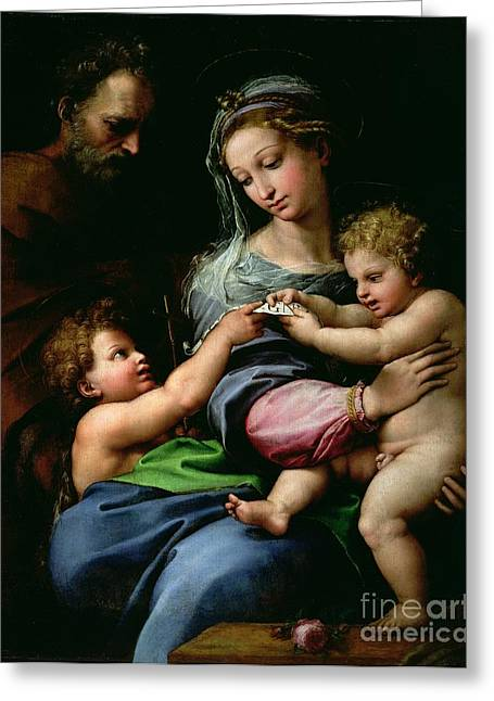 Best Sellers -  - Saint Joseph Greeting Cards - The Virgin of the Rose Greeting Card by Raphael