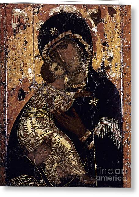 The Virgin Of Vladimir Greeting Card by Granger