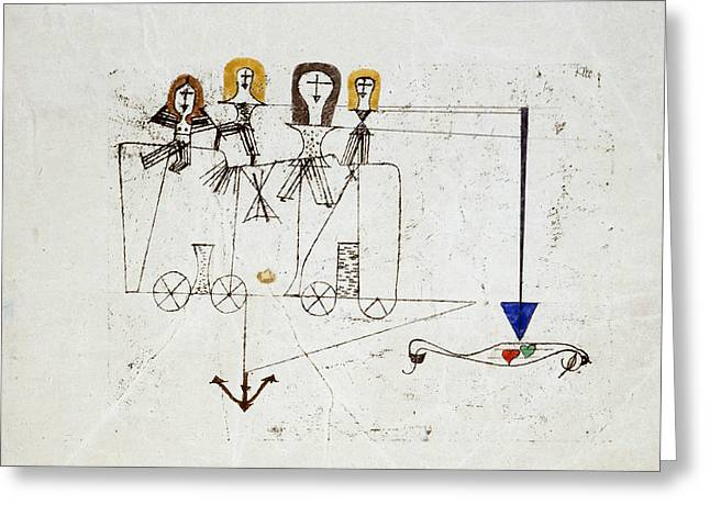 The Virtue Wagon  Greeting Card by Paul Klee
