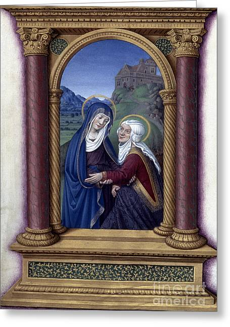 1510 Paintings Greeting Cards - The Visitation Greeting Card by Granger