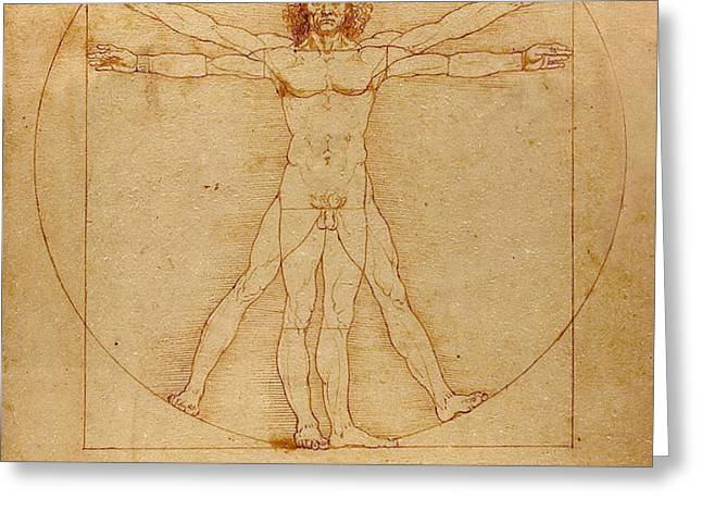 The Vitruvian Man Greeting Card by