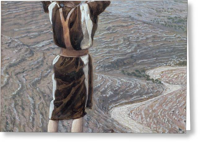 The Voice in the Desert Greeting Card by Tissot