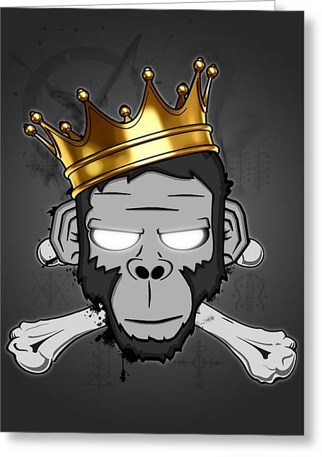 King Greeting Cards - The Voodoo King Greeting Card by Nicklas Gustafsson