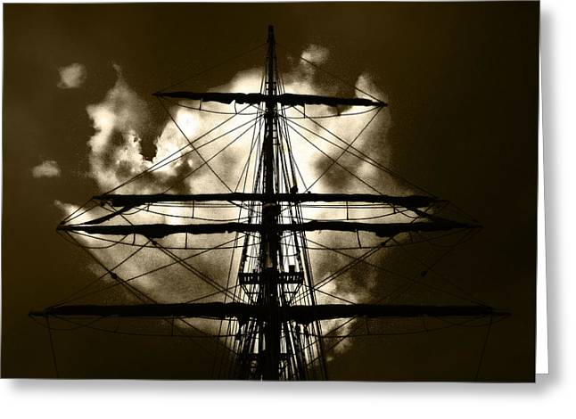 Wooden Ship Greeting Cards - The Voyage of the Mary Celeste Greeting Card by Steve Taylor