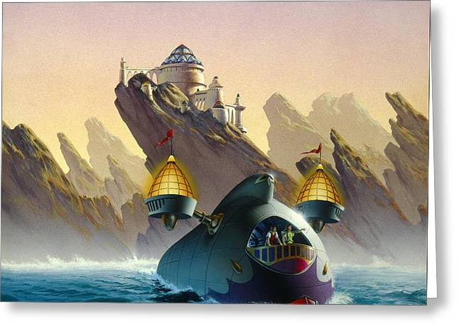 The Voyage Greeting Card by Richard Hescox