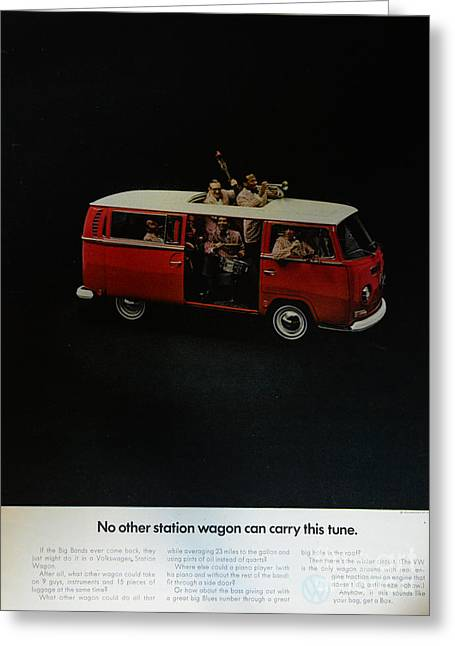 Station Wagon Greeting Cards - The VW Van Greeting Card by Paul Ward