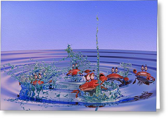 The Wading Pool Greeting Card by Betsy Knapp