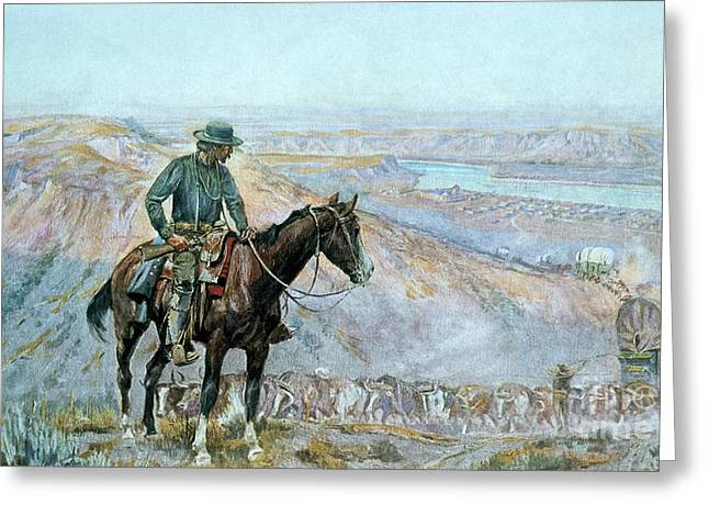 Herders Greeting Cards - The Wagon Boss Greeting Card by Charles Marion Russell