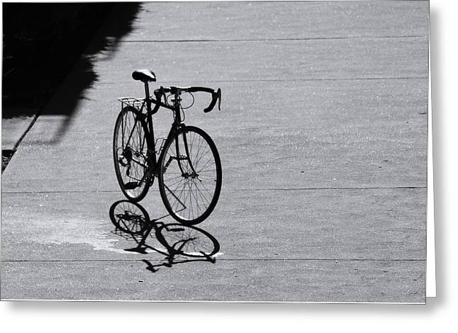 Bicycle Kick Greeting Cards - The Waiting Greeting Card by Albert Stewart