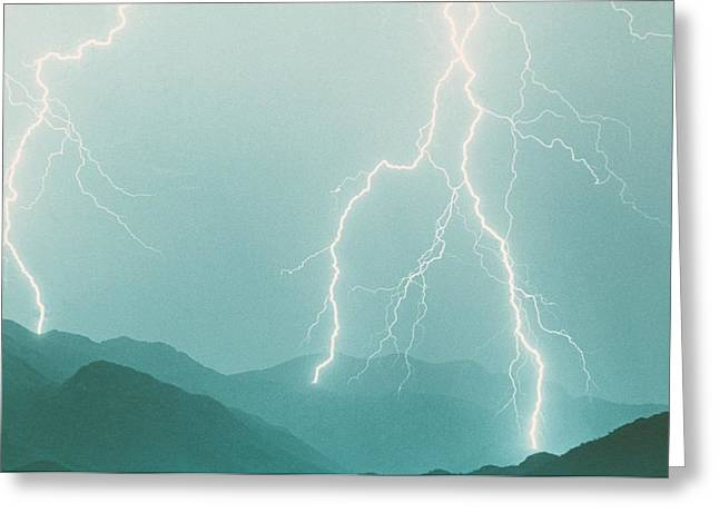 Photography Lightning Photographs Greeting Cards - The Walk  Greeting Card by James BO  Insogna