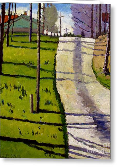 On A Walk Greeting Cards - SOLD The Walkers Greeting Card by Charlie Spear