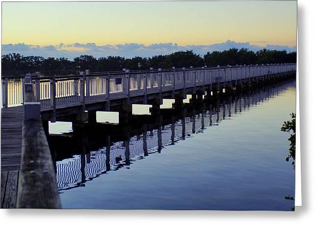 The Walking Bridge Greeting Card by John Wall