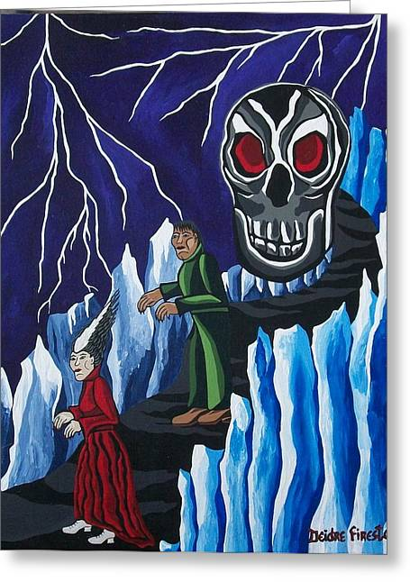 Gothic Art Greeting Cards - The Walking Dead Greeting Card by Deidre Firestone