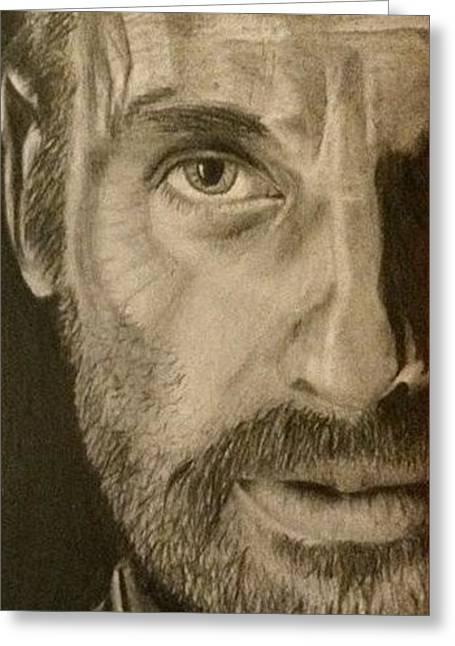 Rick Grimes Greeting Cards - The Walking Dead fan art Greeting Card by Kirsty Willcox