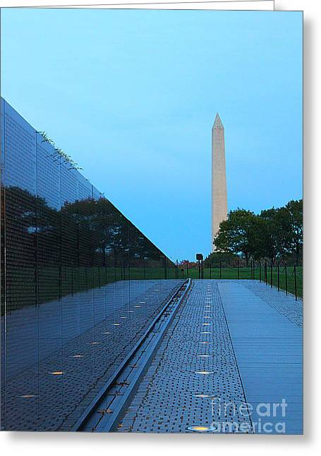 Washingtondc Greeting Cards - The Wall Greeting Card by Brian Governale