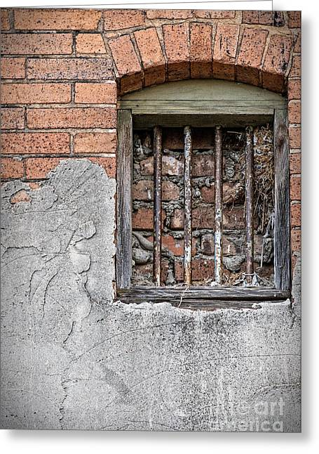 The Wall Within Greeting Card by Charles Dobbs