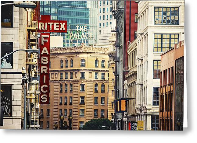 Union Square Greeting Cards - The Walls of San Francisco Greeting Card by Katya Horner