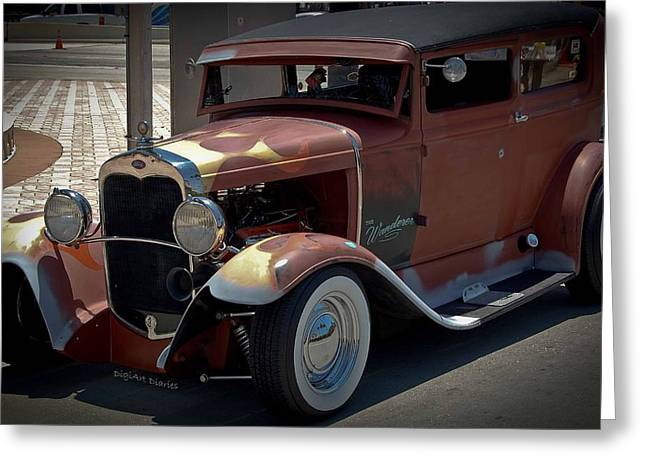 Model A Sedan Greeting Cards - The Wanderer Greeting Card by DigiArt Diaries by Vicky B Fuller