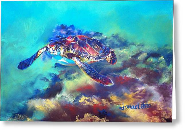 Sea Animals Greeting Cards - The Wanderer Greeting Card by Janae Lehto