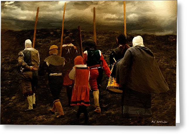 18th Century Greeting Cards - The Wanderers Greeting Card by RC deWinter