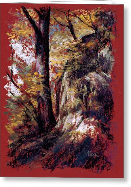 Turning Leaves Pastels Greeting Cards - The Waning Greeting Card by Mark Ivan Cole