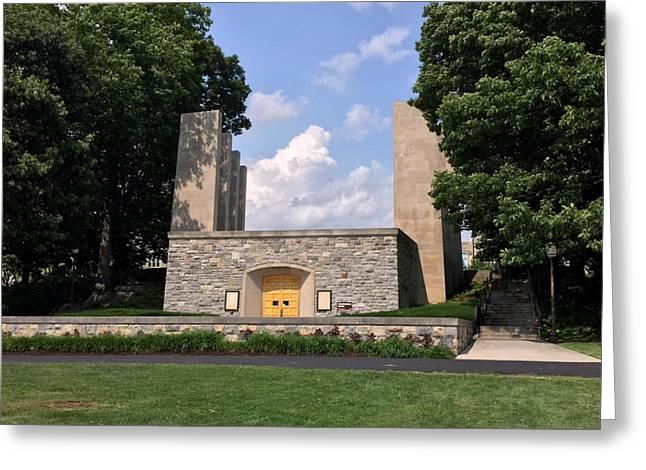 Hokies Greeting Cards - The War Memorial Chapel at Virginia Tech Greeting Card by Andrew Webb