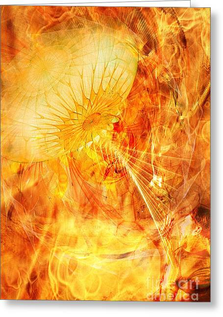 Abstract Waves Greeting Cards - The War of the Worlds Greeting Card by John Edwards