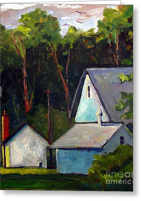 Locations Paintings Greeting Cards - The Warming Sun Greeting Card by Charlie Spear