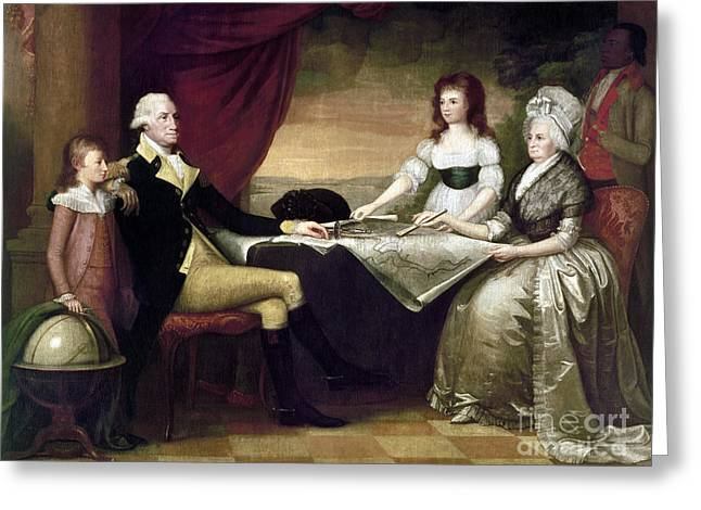 Custis Greeting Cards - The Washington Family Greeting Card by Granger